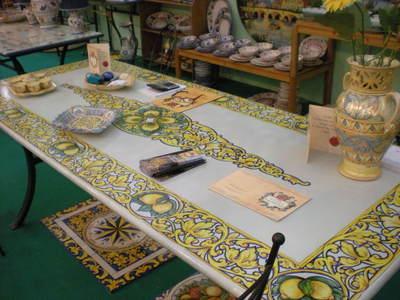 Ceramica piscitello tavoli tradizionali tav 17 barocco con limoni