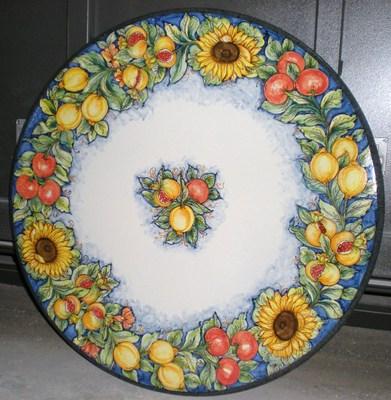 Ceramica Piscitello - Tavoli Tradizionali - Tav 21 Circolare con ...